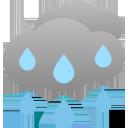 stark bewölkt, anhaltender Regen
