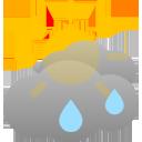 bewölkt, einige Regenschauer